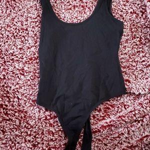 Plain black bodysuit
